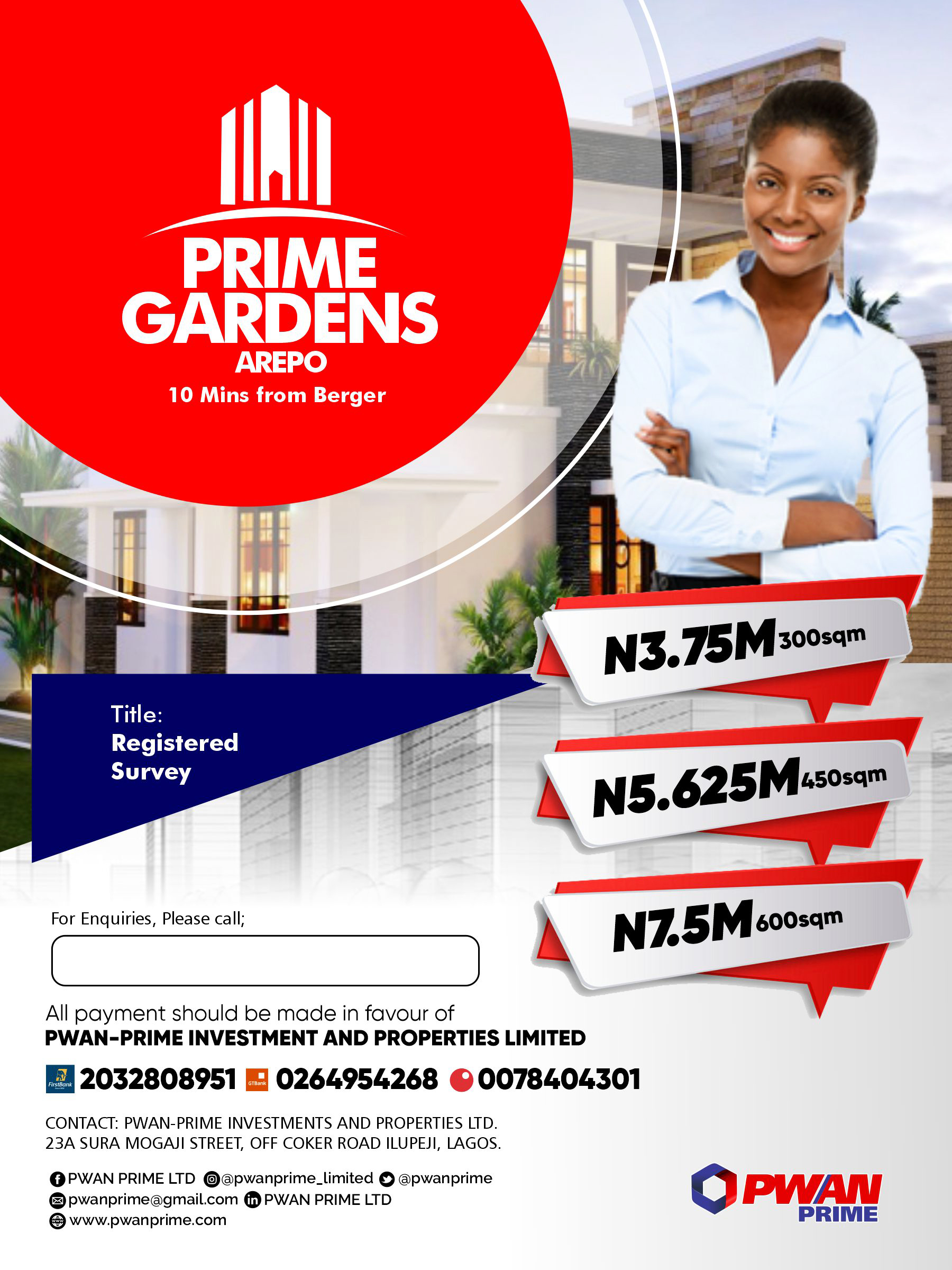 Prime Gardens Arepo